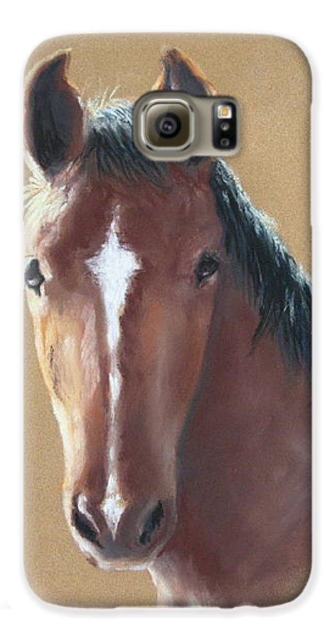 Horse Galaxy S6 Case featuring the painting Sweetie by Carol Mueller