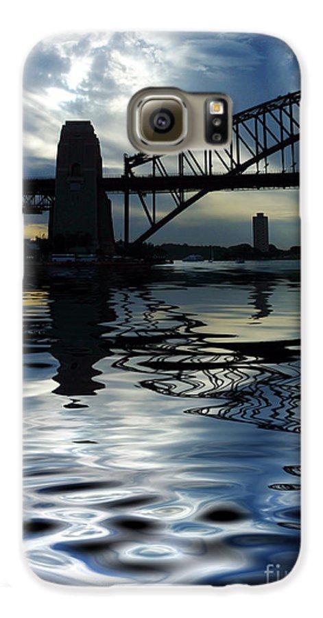 Sydney Harbour Australia Bridge Reflection Galaxy S6 Case featuring the photograph Sydney Harbour Bridge Reflection by Avalon Fine Art Photography