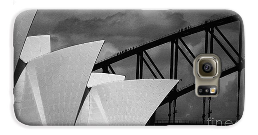 Sydney Opera House Galaxy S6 Case featuring the photograph Sydney Opera House With Harbour Bridge by Sheila Smart Fine Art Photography