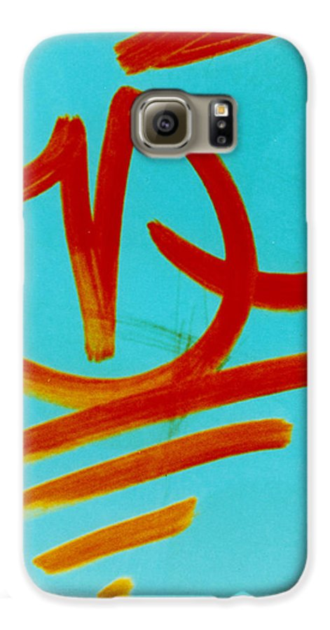 Abstract Galaxy S6 Case featuring the photograph Symbols by David Rivas