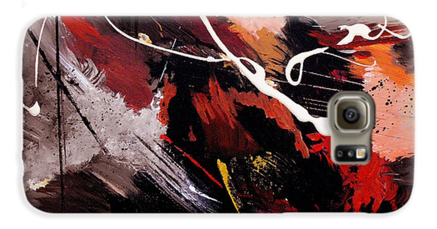 Abstract Galaxy S6 Case featuring the painting Take To Heart by Ruth Palmer