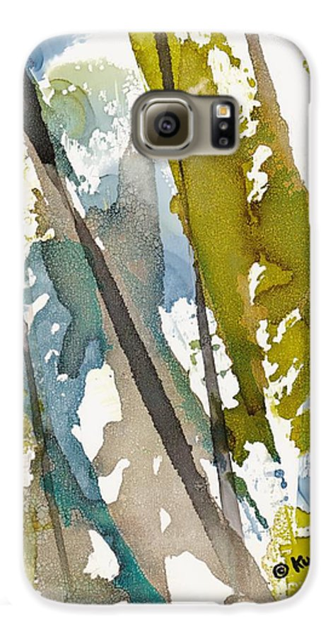 Forest Galaxy S6 Case featuring the painting Tall Timber by Susan Kubes