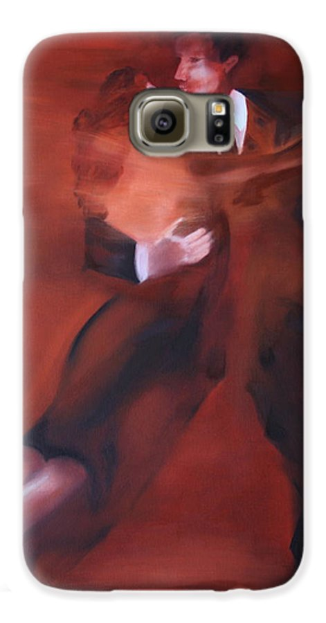 Tango Galaxy S6 Case featuring the painting Tango No.1 by Harri Spietz