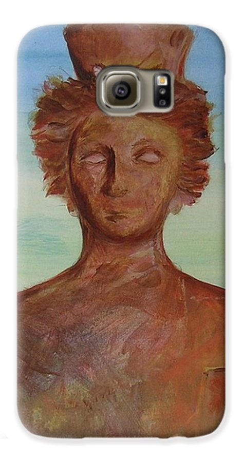 Icon Galaxy S6 Case featuring the painting Tanit Mythical Godess Of Ibiza by Lizzy Forrester