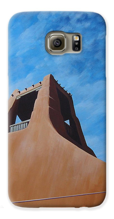 Taos Galaxy S6 Case featuring the painting Taos Memory by Hunter Jay