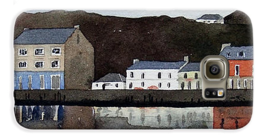 Landscape Galaxy S6 Case featuring the painting Tarbert by Paul Dene Marlor