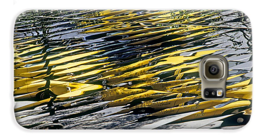 Abstract Galaxy S6 Case featuring the photograph Taxi Abstract by Tony Cordoza