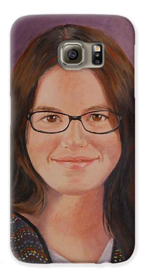 Portrait Galaxy S6 Case featuring the painting Taylor Snow by Quwatha Valentine