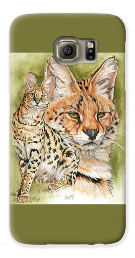 Serval Galaxy S6 Case featuring the mixed media Tempo by Barbara Keith