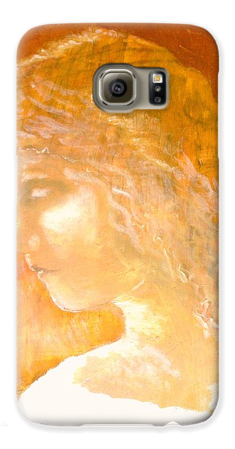 Angel Galaxy S6 Case featuring the painting Tender Mercy by J Bauer