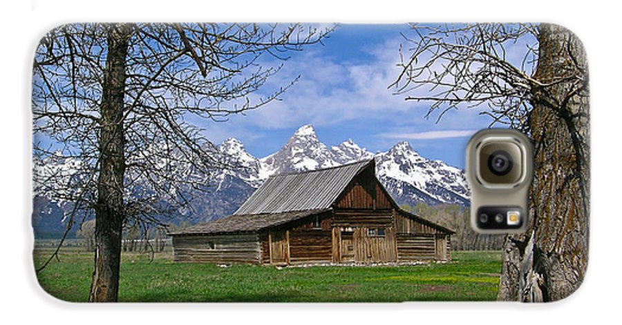 Teton Galaxy S6 Case featuring the photograph Teton Barn by Douglas Barnett