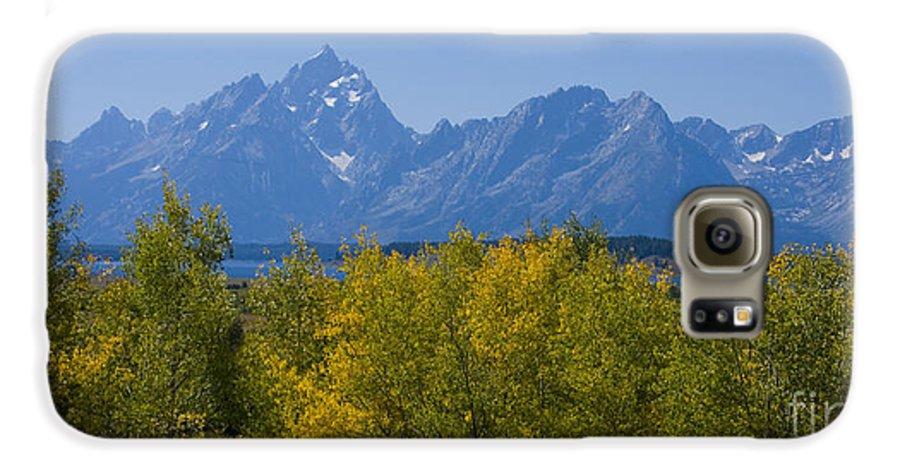Teton Galaxy S6 Case featuring the photograph Teton Range by Idaho Scenic Images Linda Lantzy