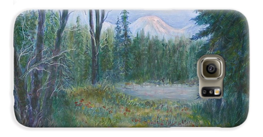 Landscape Galaxy S6 Case featuring the painting Teton Valley by Ben Kiger