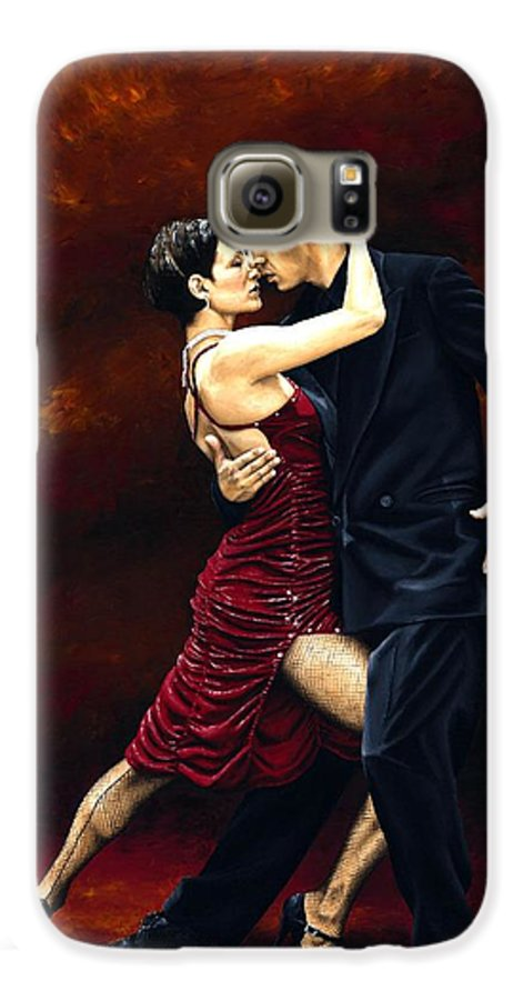 Tango Galaxy S6 Case featuring the painting That Tango Moment by Richard Young