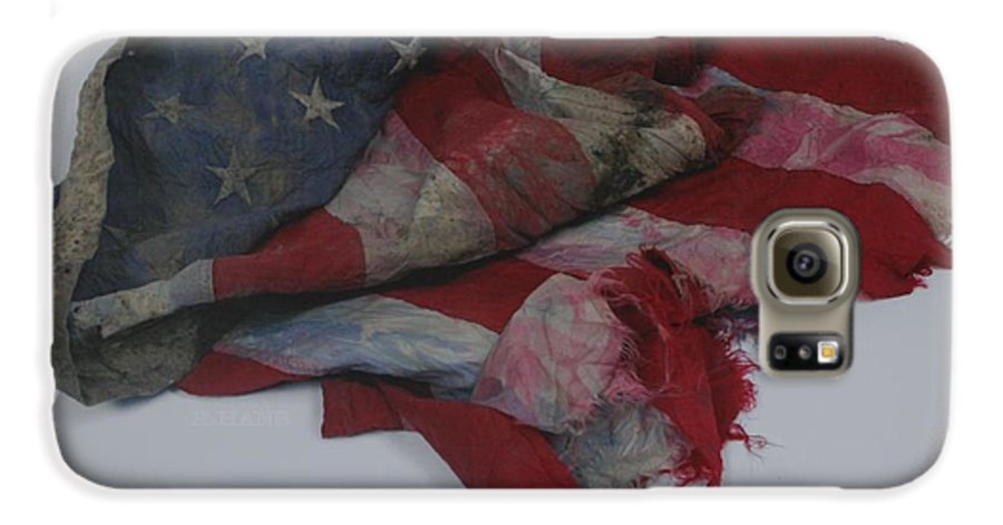 911 Galaxy S6 Case featuring the photograph The 9 11 W T C Fallen Heros American Flag by Rob Hans