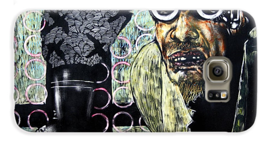 Scratchboard Galaxy S6 Case featuring the mixed media The Alchemist by Chester Elmore