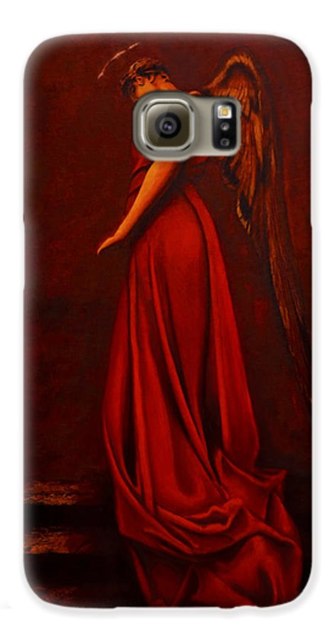 Giorgio Galaxy S6 Case featuring the painting The Angel Of Love by Giorgio Tuscani