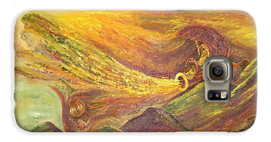 Autumn Galaxy S6 Case featuring the painting The Autumn Music Wind by Karina Ishkhanova