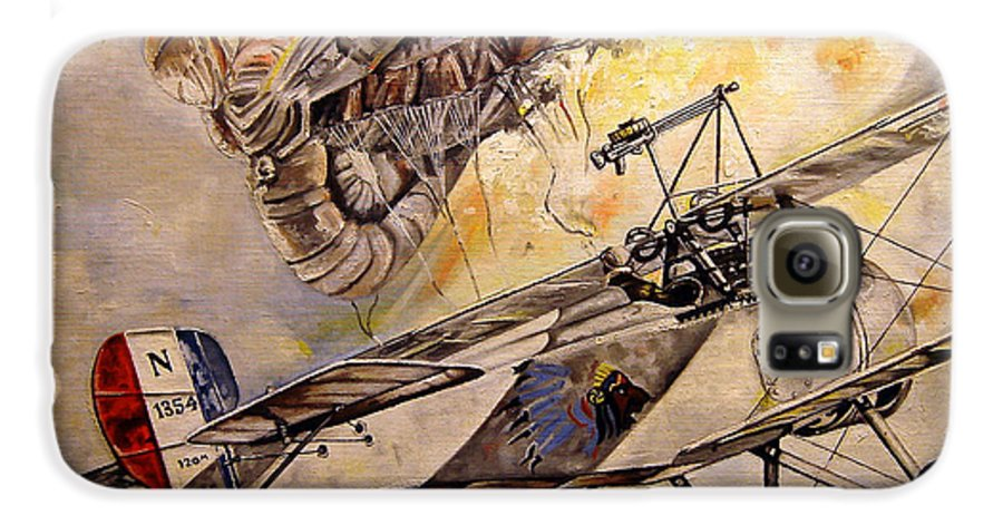 Military Galaxy S6 Case featuring the painting The Balloon Buster by Marc Stewart