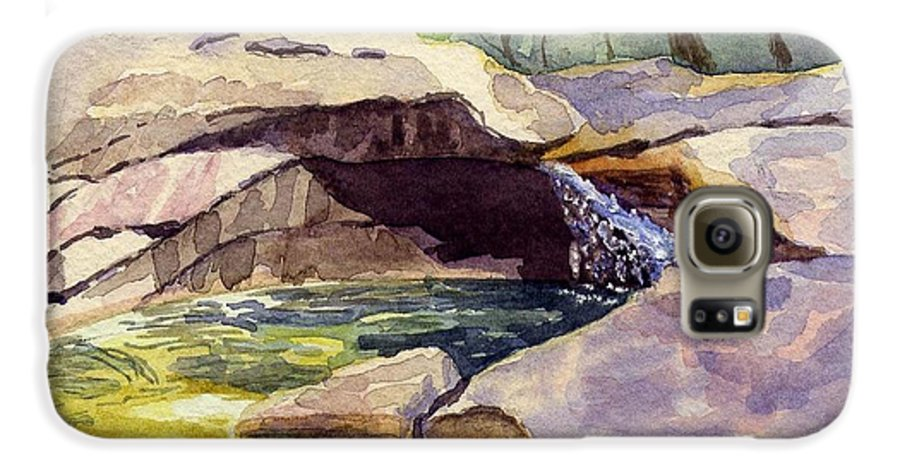 The Basin Galaxy S6 Case featuring the painting The Basin by Sharon E Allen