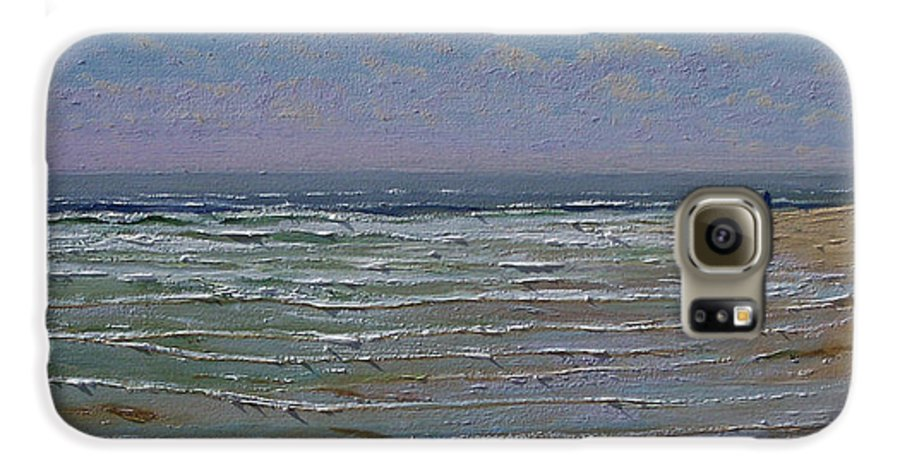 Seascape Galaxy S6 Case featuring the painting The Beachcomber by Frank Wilson