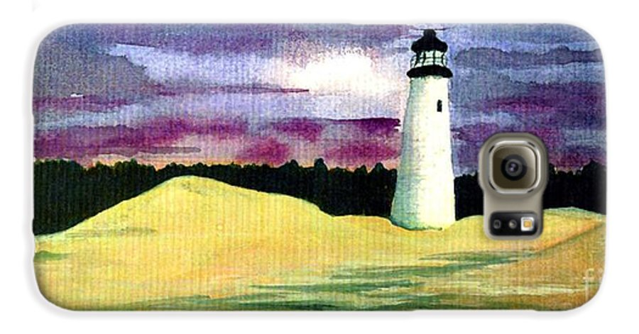 Fine Art Galaxy S6 Case featuring the painting The Beacon by Patricia Griffin Brett