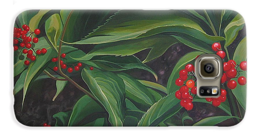 Berries Galaxy S6 Case featuring the painting The Berries On Guanella Pass by Hunter Jay