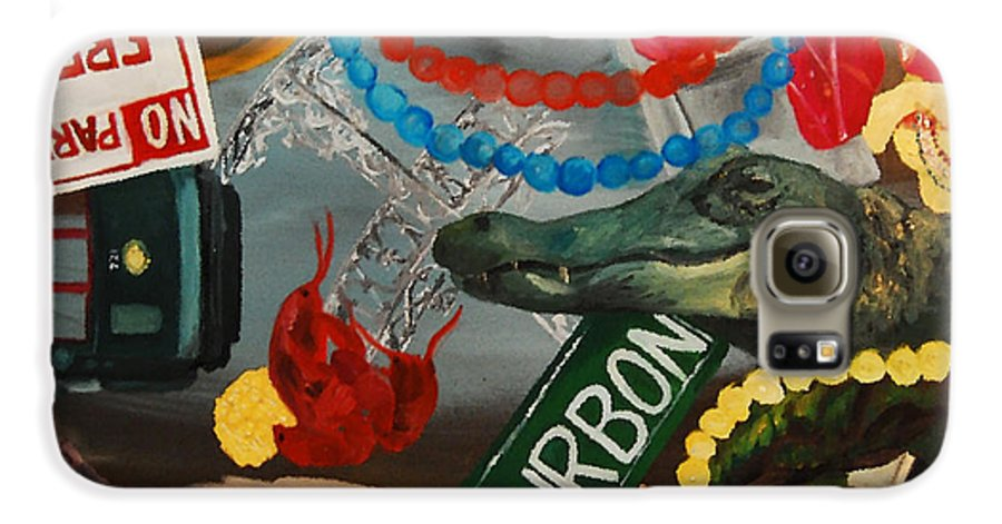 Louisiana Galaxy S6 Case featuring the painting The Big Easy by Lauren Luna