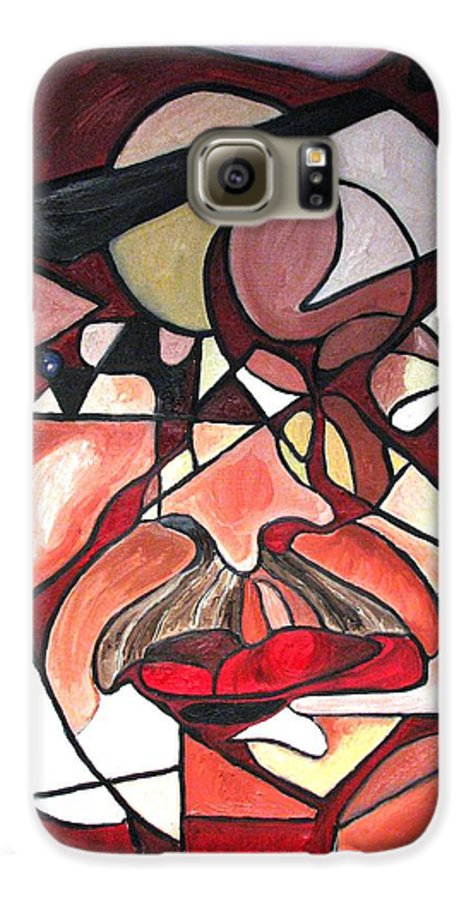 Abstract Galaxy S6 Case featuring the painting The Brain Surgeon by Patricia Arroyo