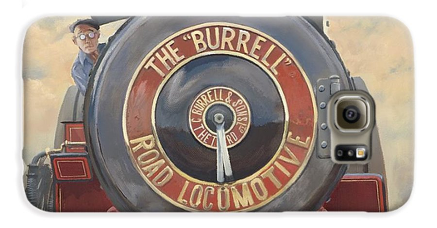Traction Engine Galaxy S6 Case featuring the painting The Burrell Road Locomotive by Richard Picton