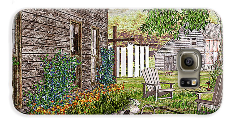 Adirondack Chair Galaxy S6 Case featuring the photograph The Chicken Coop by Peter J Sucy