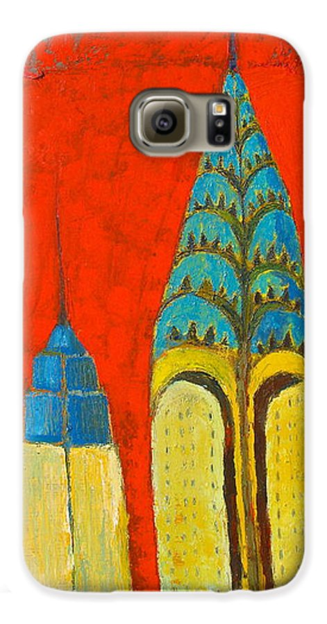 Galaxy S6 Case featuring the painting The Chrysler And The Empire State by Habib Ayat