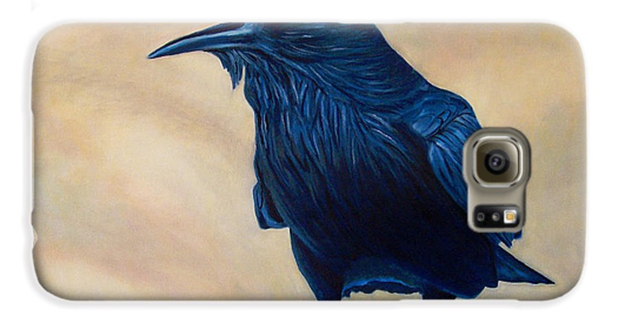 Raven Galaxy S6 Case featuring the painting The Conversation by Brian Commerford