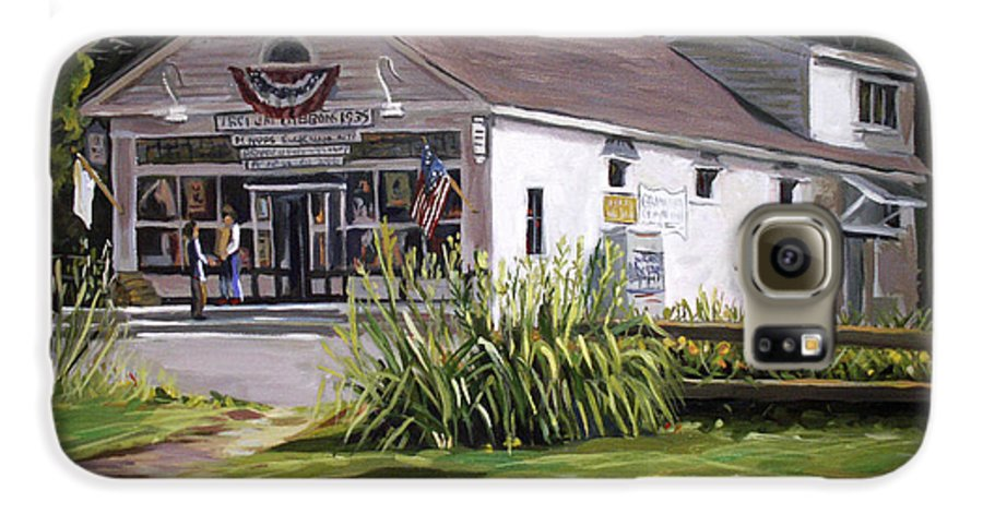 Buildings Galaxy S6 Case featuring the painting The Country Store by Nancy Griswold