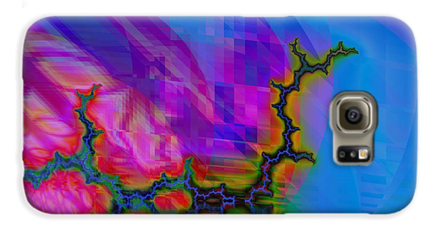 Fractal Galaxy S6 Case featuring the digital art The Crawling Serpent by Frederic Durville