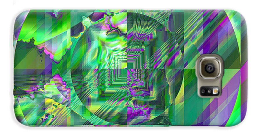Fractal Galaxy S6 Case featuring the digital art The Crazy Fractal by Frederic Durville
