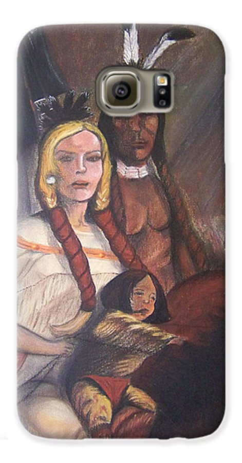 Artwork Galaxy S6 Case featuring the painting The Cynthia Ann Parker Family by Laurie Kidd