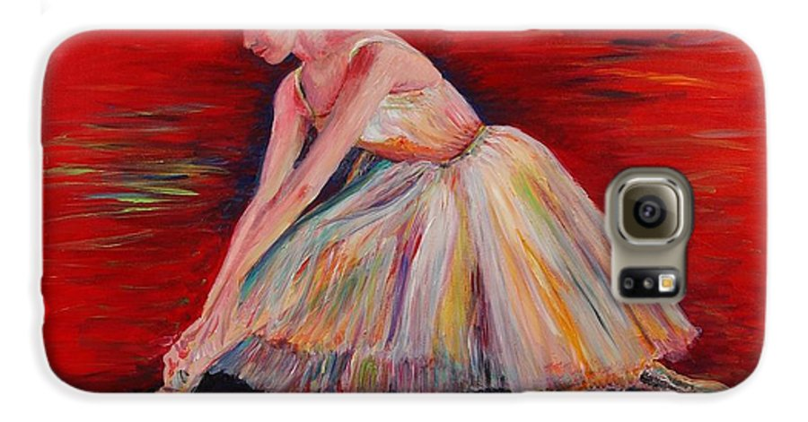 Dancer Galaxy S6 Case featuring the painting The Dancer by Nadine Rippelmeyer