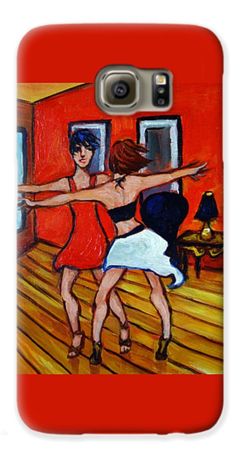 Dancers Galaxy S6 Case featuring the painting The Dancers by Valerie Vescovi