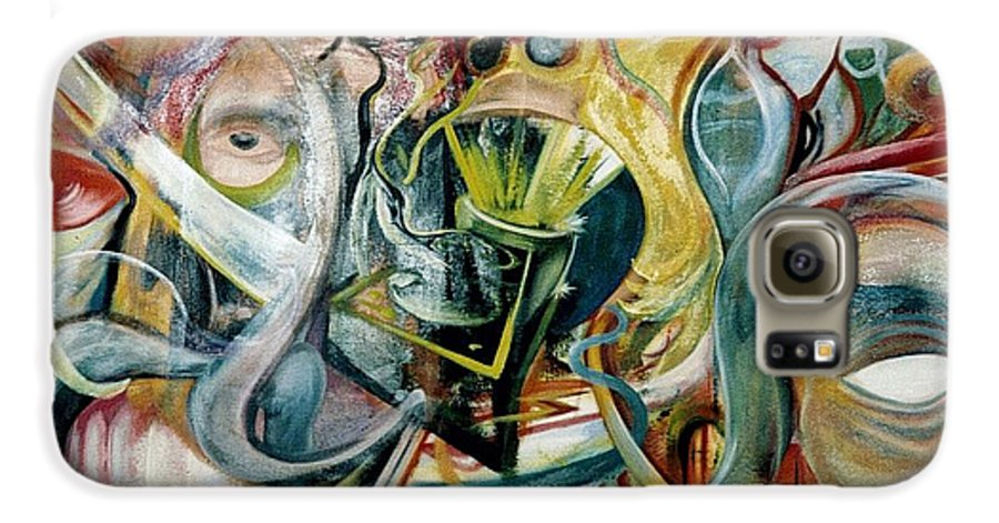 Jester Galaxy S6 Case featuring the painting The Danger In Joy by Will Le Beouf