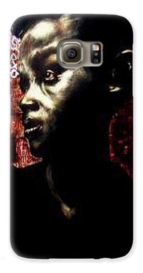 Portrait Galaxy S6 Case featuring the mixed media The Day We First Met by Chester Elmore