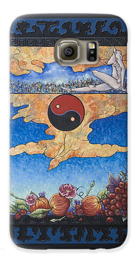 Karma Galaxy S6 Case featuring the painting The Dream by Judy Henninger
