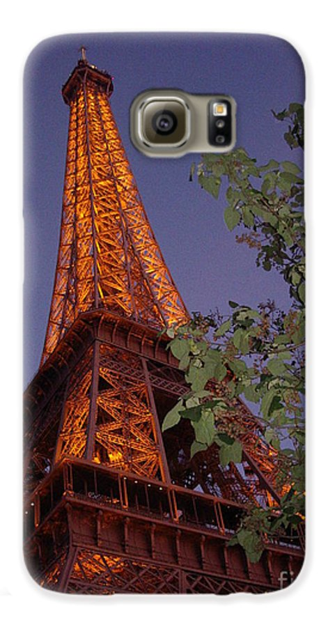 Tower Galaxy S6 Case featuring the photograph The Eiffel Tower Aglow by Nadine Rippelmeyer