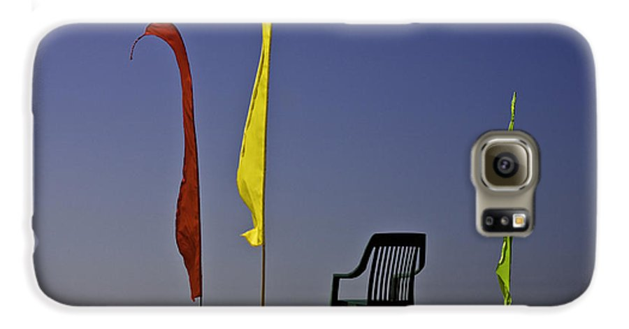 Beach Galaxy S6 Case featuring the photograph The Empty Chair by Avalon Fine Art Photography