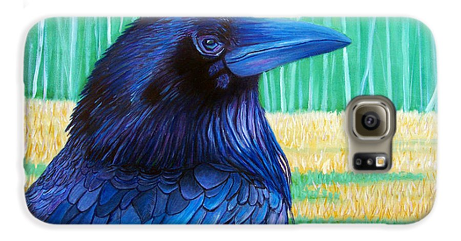 Raven Galaxy S6 Case featuring the painting The Field Of Dreams by Brian Commerford