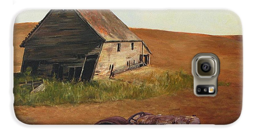Oil Paintings Galaxy S6 Case featuring the painting The Forgotten Farm by Chris Neil Smith