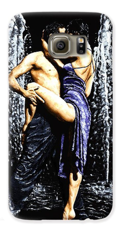Tango Galaxy S6 Case featuring the painting The Fountain Of Tango by Richard Young