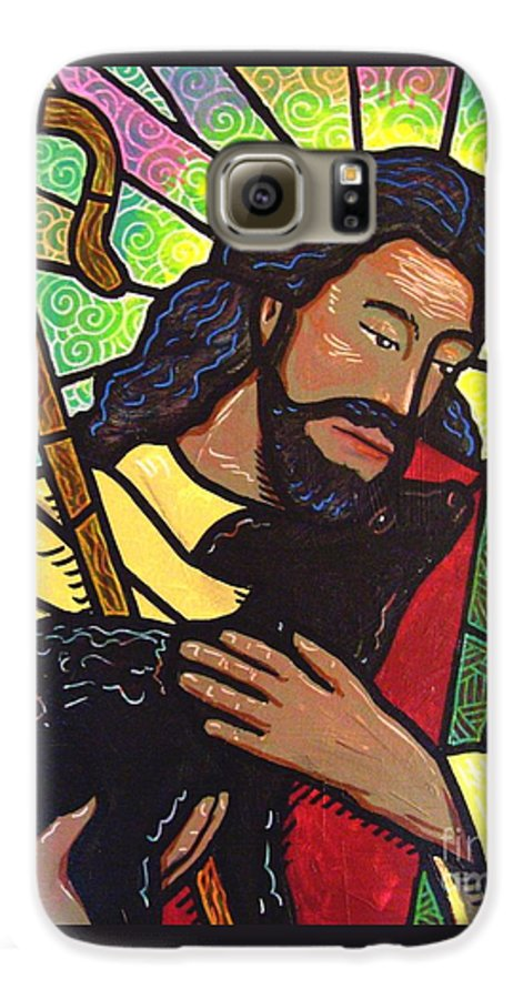 Jesus Galaxy S6 Case featuring the painting The Good Shepherd - Practice Painting Two by Jim Harris