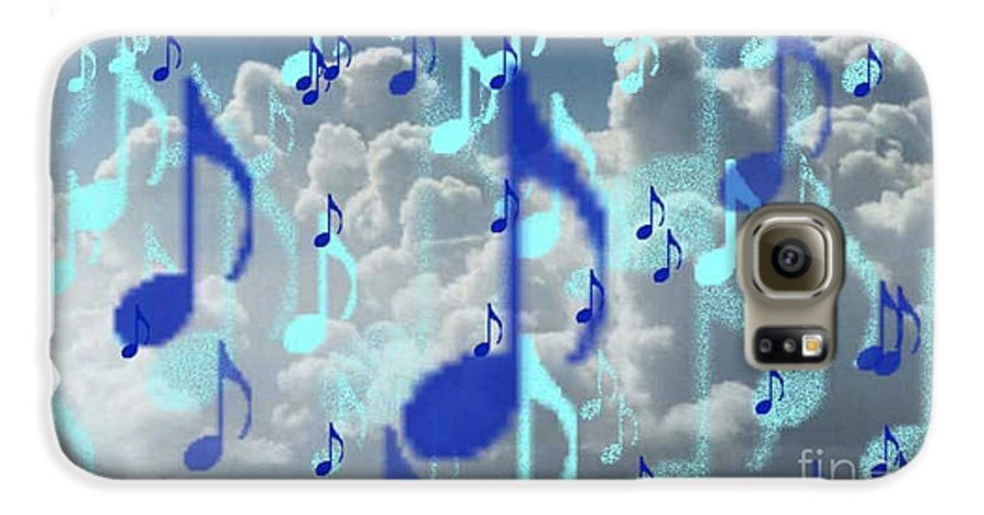 Galaxy S6 Case featuring the digital art The Greater Clouds Of Witnesses We Love The Blues Too by Brenda L Spencer