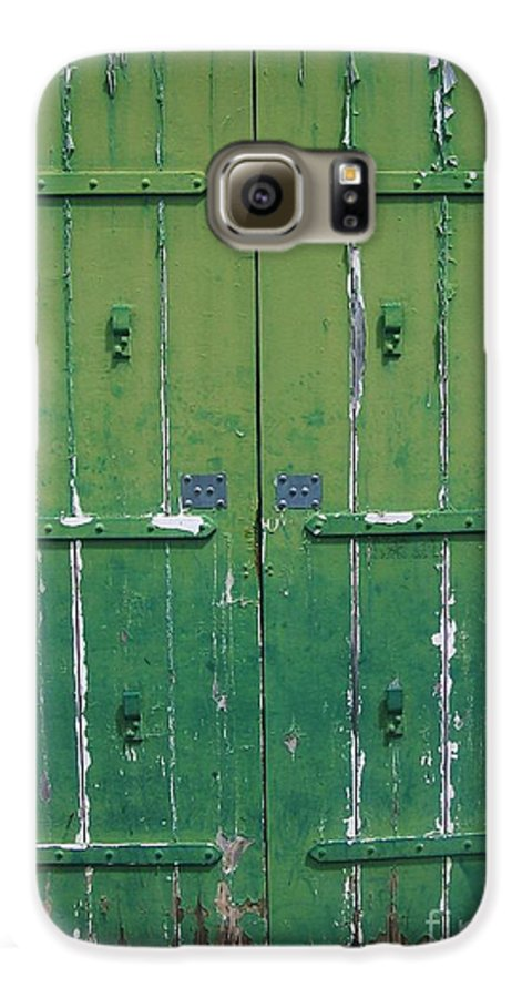 Architecture Galaxy S6 Case featuring the photograph The Green Door by Debbi Granruth